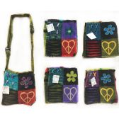 Nepal Small Sling Bags Flower with Heart Shaped Peace