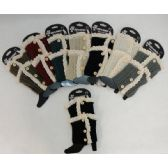 .Knitted Boot Cuff [Antique Lace-3 Buttons]