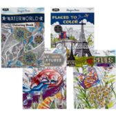 Adult Coloring Books- 32pg 2asst Patterns And Nature In Pdq