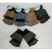 Fingerless Gloves with Mitten Flap [Variegated]