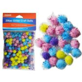 200 Piece Craft Balls With Glitter