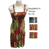 Multicolor Printed Simple Strap Summer Dresses