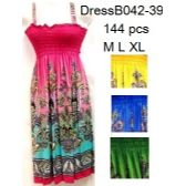 Bright Color Simple Strap Summer Dresses