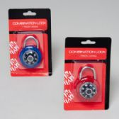 45mm Lock Combination w/ Hardware Blister Card in Asst Colors