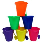 "9"" BEACH TOY BUCKET W/ SHOVEL, ASST."