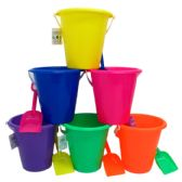 "6.5"" BEACH TOY BUCKET W/ SHOVEL, ASST."