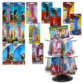 LICENSED KIDS WATCHES 12 ASSORTED WITH SPINNER RACK + CLIP STRIPS
