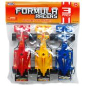"3 Piece ""Formula Racers"" Action Cars"