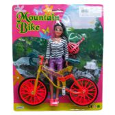 DOLL WITH MOUNTAIN BIKE