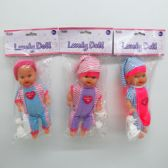 "9"" IC SOUND BABY DOLL IN PP BAG W/HEADER, ASSORTED"