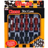 3 IN 1 CHESS GAME BOARD PLAY SET IN WINDOW BOX
