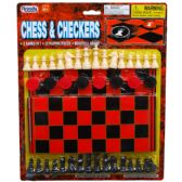 48PC CHESS & CHECKERS W/BOARD IN BLISTER CARD