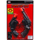 2pc Super Cap Toy Guns (revolvers) In Blister Card