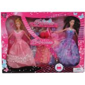 "2PC 11"" BENDABLE DOLL SET W / 5 EXTRA OUTFITS IN WINDOW BOX"