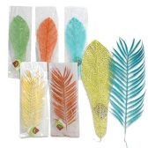 15 INCH GLITTERED LEAF 5 COLORS 5 COLORS ASSORTED