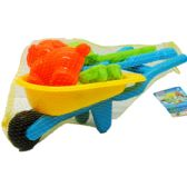Beach Toy Wheel Barrow W/ Accss. In Net Bag