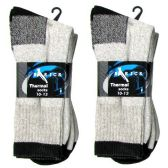 2 PACK THERMALSOCKS 10-13 GRAY AND BLACK