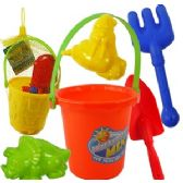5 PIECE SAND PLAY SETS.