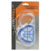 Wholesale SAFETY GOGGLES & MASK SET 2PC