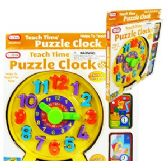 TEACH TIME PUZZLE CLOCKS.