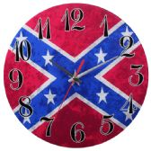 Glass Wall Clock Red And Blue