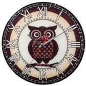 Glass Wall Clocks With Owl