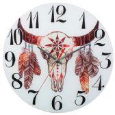 Glass Wall Clocks With Bull