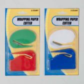 Wrapping Paper Cutter 2pk 2styles/colors/pk 12pc