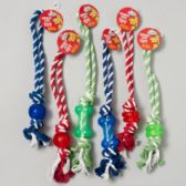 Dog Toy Rope/rubber Tug Chews 3 Styles 3 Colors