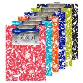 Standard Size Floral Paperboard Clipboard w/ Low Profile Clip