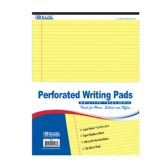 """50 Ct. 8.5"""" X 11.75"""" Canary Perforated Writing Pad"""