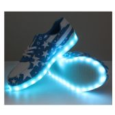 LED SHOES ADULT MIX SIZE BLUE WITH WHITE STARS