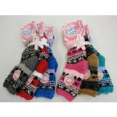 Soft & Cozy Fuzzy Socks [Snowflakes] Assorted Colors