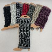 Knitted Leg Warmer [Variegated Cable Knit]