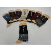Knitted Boot Cuffs-2 Buttons [Solid Top/Variegated Bottom]