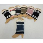 Knitted Boot Cuffs w Antique Lace [Cable Knit Varsity]