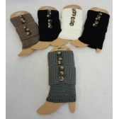 Knitted Boot Cuffs [Tight Knit/3 Buttons]
