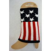 Knitted Boot Cuffs [Stars & Stripes]