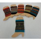 Knitted Boot Cuffs [Aztec Print]