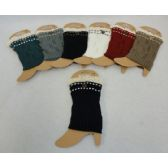 Knitted Boot Cuffs [Antique Lace/1 Button