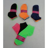 Womens neon color ankle socks size 9-11