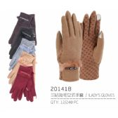 Lady's Winter Touch Glove with Fur Design