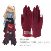 Lady's Winter Touch Glove with Diamond Ring Design