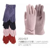 Ladies Touch Gloves With Bow