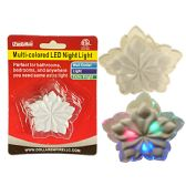 LED Multicolored Flower Night Light Wall Outlet