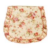 FLORAL SEAT COVER WITH RUFFLE