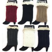Wholesale Braid Knitted Solid Color Boot Topper Leg Warmer Lace