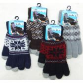 Men's Touch Screen Gloves-Pattern
