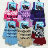 Ladies' Touch Screen Gloves-Pattern