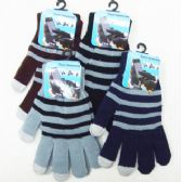 Men's Touch Screen Gloves-Stripes
